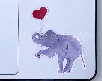 Elephant Sticker, Elephant gift, Elephant Print, Elephant Love,Lap Top Sticker, Water Resistant Sticker, Water Bottle Sticker,Animal Sticker