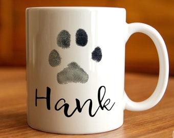Personalized Pet Gift, Custom Mug,  Dog Print Mug, Custom Pet Mug, Dog Print, Animal Print, Dog mom, Dog Dad, Paw Print Art, Pet memorial