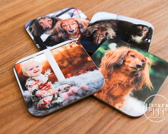Personalized Coasters, Custom Coasters, Personalized Gift, Coaster Set of 4, Photo Coaster, Picture Coaster, Matching Coaster Set, Pet gift
