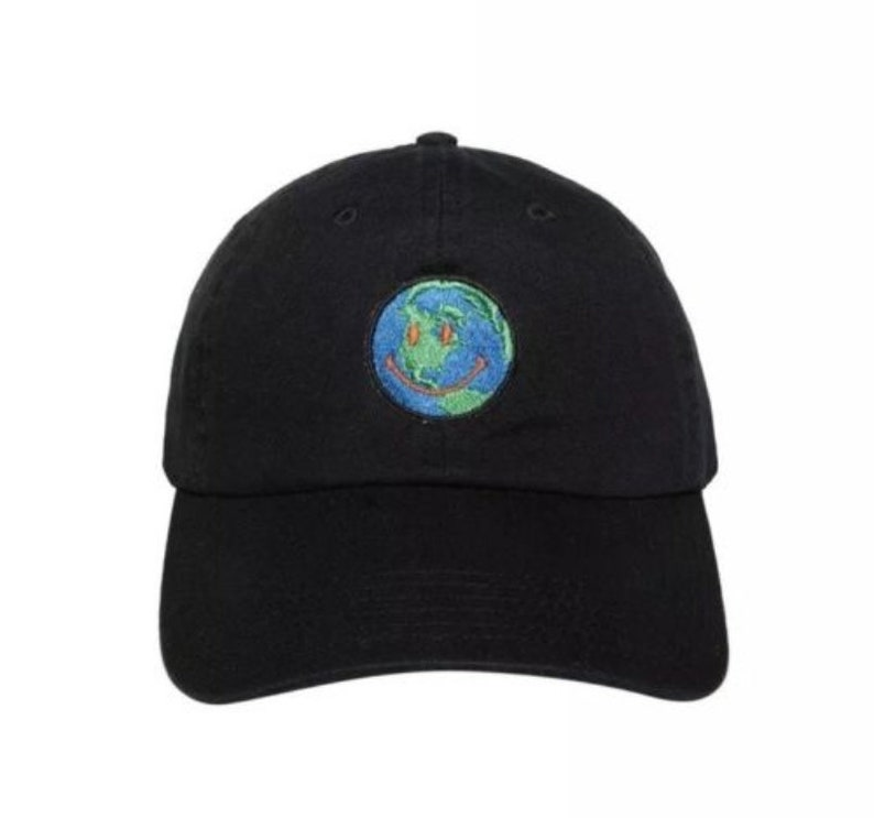 088604bcc70 Travis Scott Astroworld Smiling Spinning Earth Dad Hat