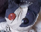 Mummy cat! Cult of Catmeat, buddy, Egyptian, plushie, stuffed animal, MEOWS charity, hand made, OOAK, unique, stuffed animal, kitty,