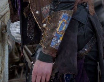 Post apocalyptic armor, license plate, forearm bracer, gauntlet, wrist cuff, arm guard, wasteland, walking dead, GAMMA GROTCH OOAK