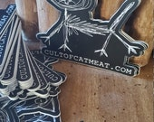Cult of Catmeat stickers 2pk - MEOWS