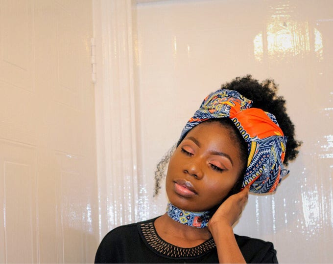 Dashiki headwrap with choker