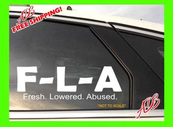 Lowlife Lowered Japanese JDM Vinyl Decal Sticker Car Truck Vehicle Bumper Window