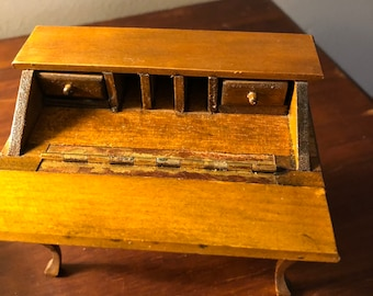 Antique Secretary Desk Etsy >> Slant Top Desk Etsy