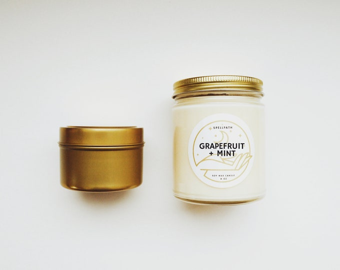 GRAPEFRUIT & MINT Soy Candle