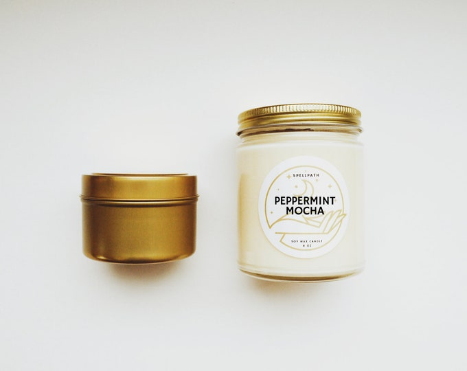 PEPPERMINT MOCHA Soy Candle