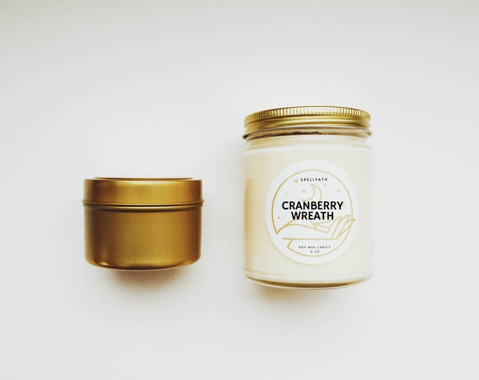 CRANBERRY WREATH Soy Candle