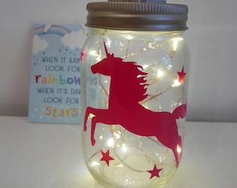 Unicorn Jar Light gift