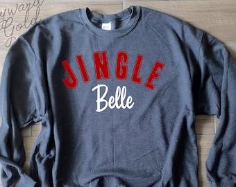 544e0540 Funny Christmas Sweater   Jingle Belle   Women's Christmas Sweatshirt   Funny  Women's Holiday Sweater   Funny Holiday Sweatshirt