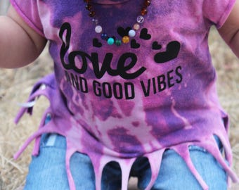 Purple Love and Good Vibes Tee