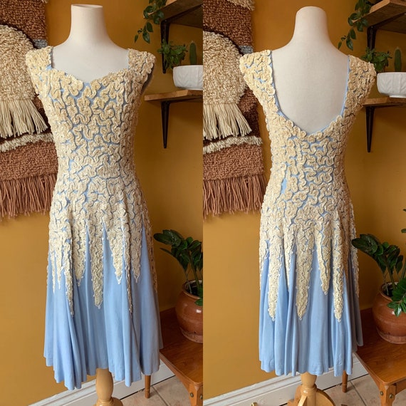 Vintage 1930s Appliqué Day Dress