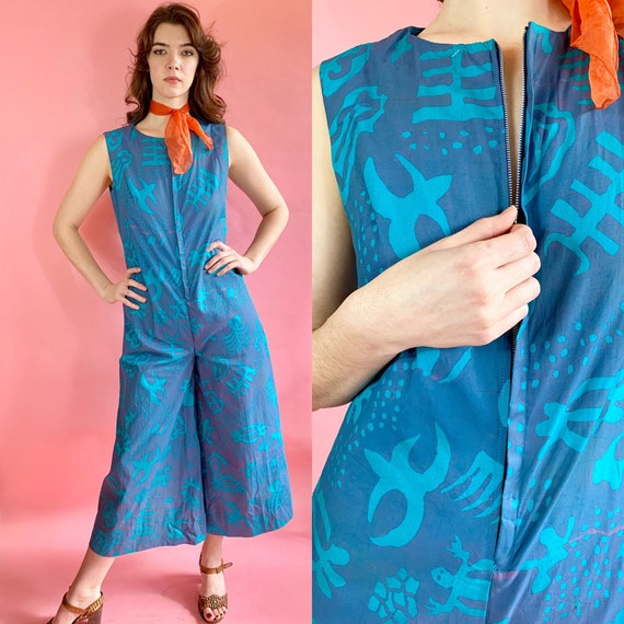 Vintage 1950s jumpsuit beach wear