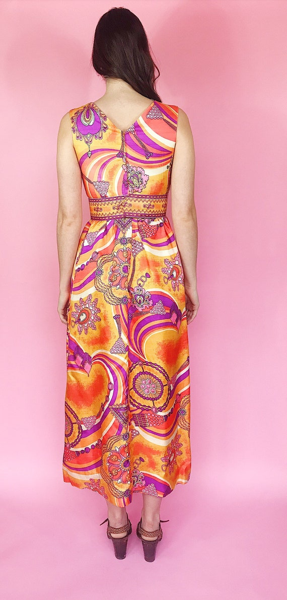 1970s psychedelic maxi dress - image 4