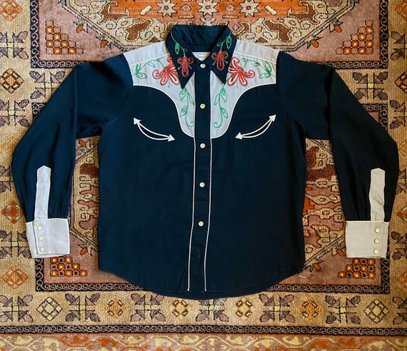 1950s H Bar C Ranchwear Vintage Gabardine Western