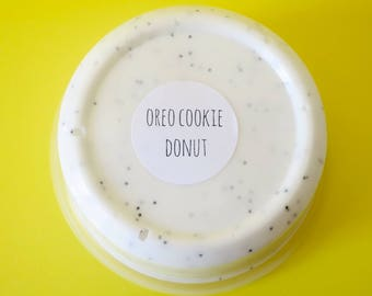 Oreo Cookie Donut Slime, slime, slime shops, slime shop, scented slime, thick slime, bubble popping slime, donut scented slime, slimes
