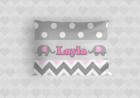Polka Dot Pillowcases Beauteous Customized Kids Pillow Case Polka Dot Pillow Case Chevron Etsy