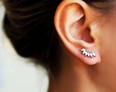 Tiny silver earrings studs, delicate earrings, Minimalist earrings
