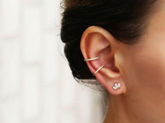 d1f9f8990 Lotus Studs Tiny stud earrings minimalist earrings ear Pin | Etsy