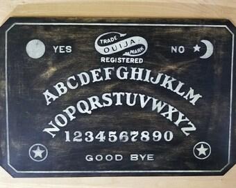 Black Grunge Ouija Board