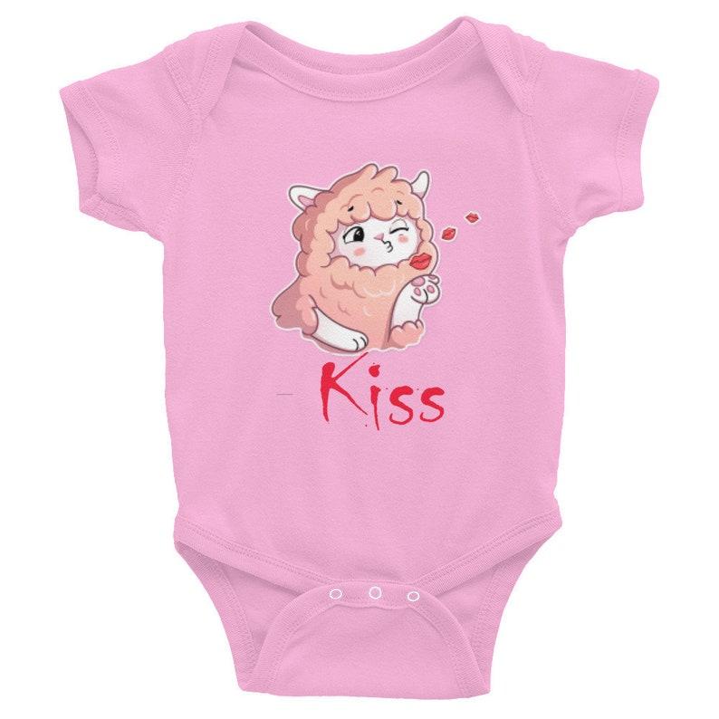 Funny infant sleeper Llama Baby Bodysuit Custom Baby Bodysuit Gift Baby Shower Baby Girl Infant Bodysuit Cute Lama Baby Shower Gift
