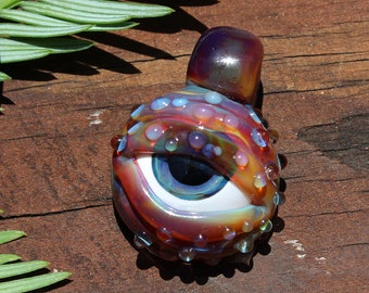 Infected Eye Pendant - Heady Glass Necklace