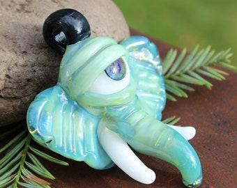 Sea Slyme Glass Elephant Eye Pendant