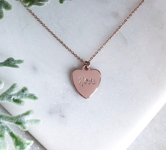 Tiffany Heart Personalized Necklace Etsy