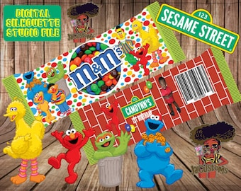 Sesame Street M&M Wrapper (includes fonts used)