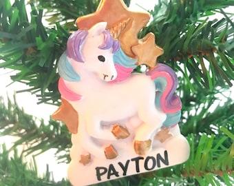 Unicorn ornament/personalized ornament/christmas/ girls