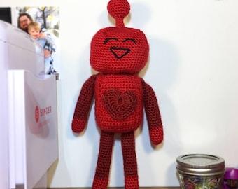 Lenny the Love Bot Crochet Pattern