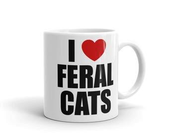 I Heart Feral Cats Coffee Mug