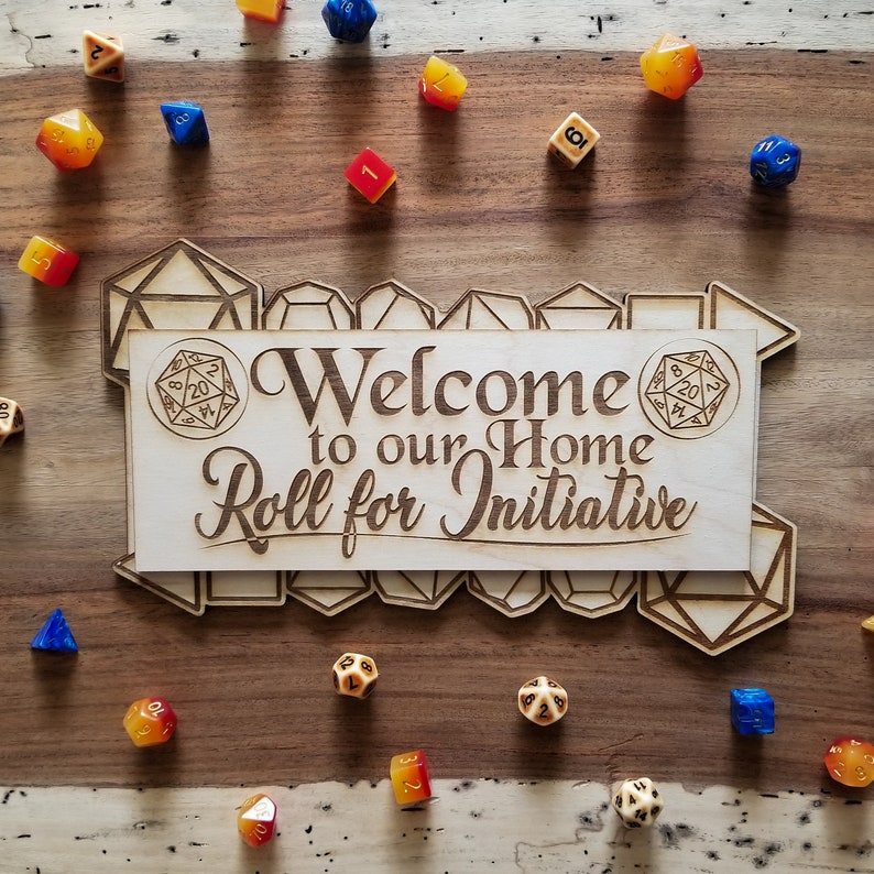 Roll for Initiative Welcome Sign image 0