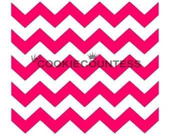 The Cookie Countess CHEVRON Stripe Stencil