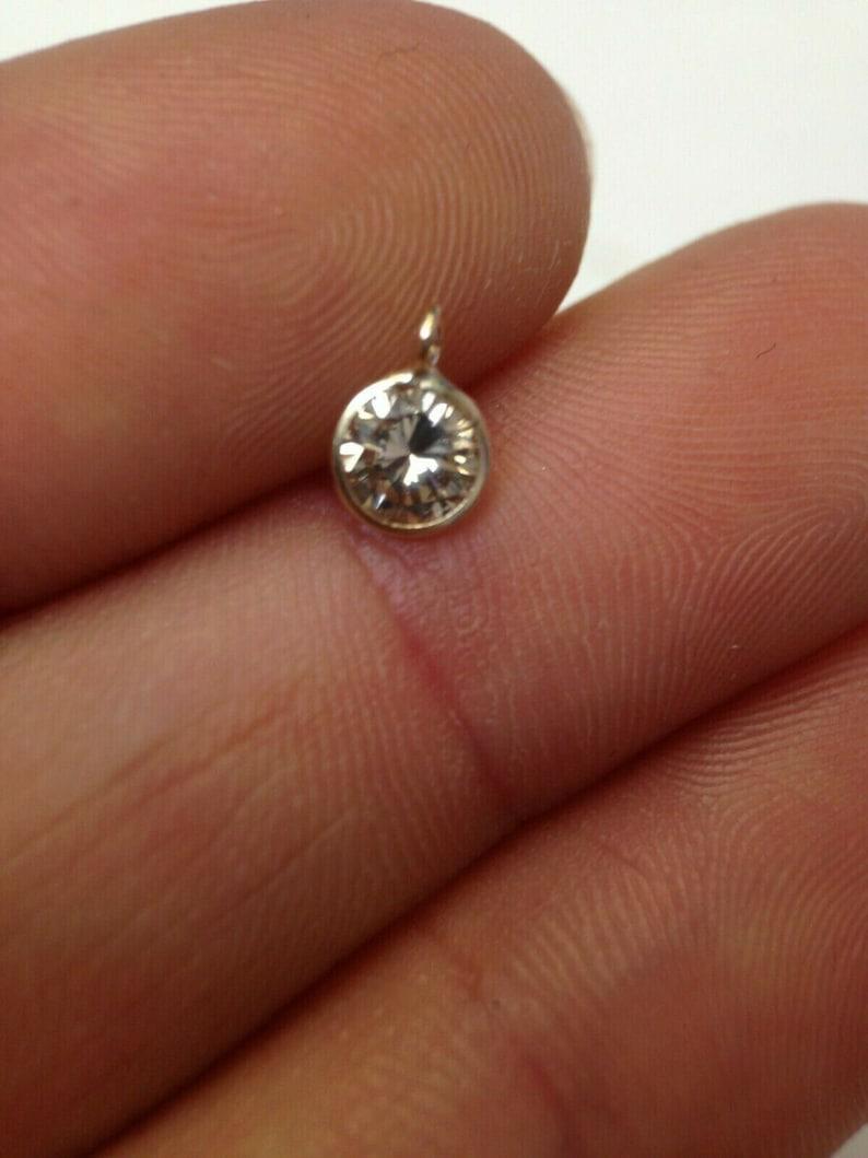 Natural .30 13CT Natural Champagne Diamond 14K Gold Pendant Charm