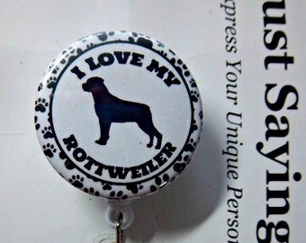 Boxer Dog Breed Retractable Reel Chrome Badge ID Card Holder Clip
