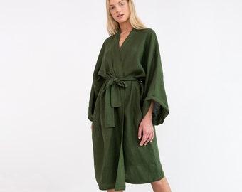 cf998e5284b LUNA Oversized Linen Kimono Jacket   Linen Kimono Dress   Linen Kimono Robe    Linen Wrap Dress