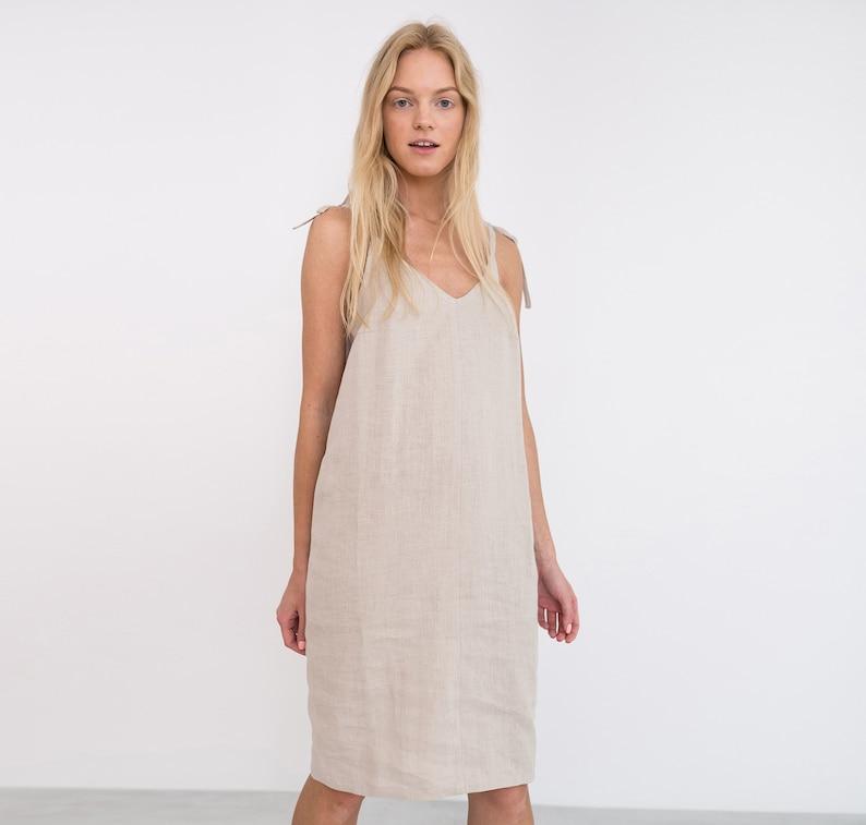 a0a910f20f ARIA Linen Slip Dress   Linen Summer Dress   Linen Dresses For Women   Linen  Tie Strap Dress