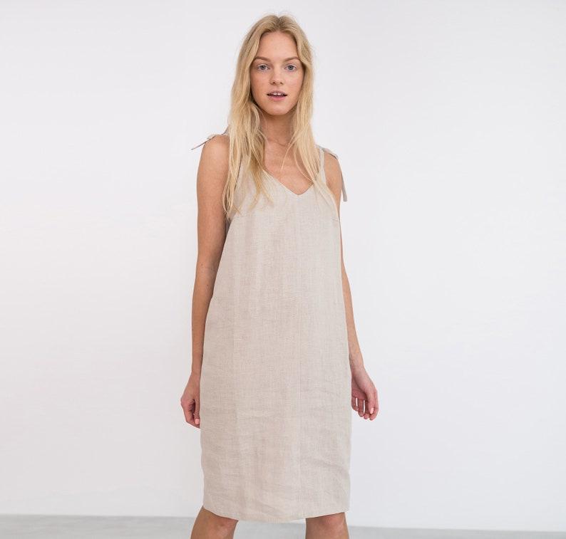 c729f572060 ARIA Linen Slip Dress   Linen Summer Dress   Linen Dresses For