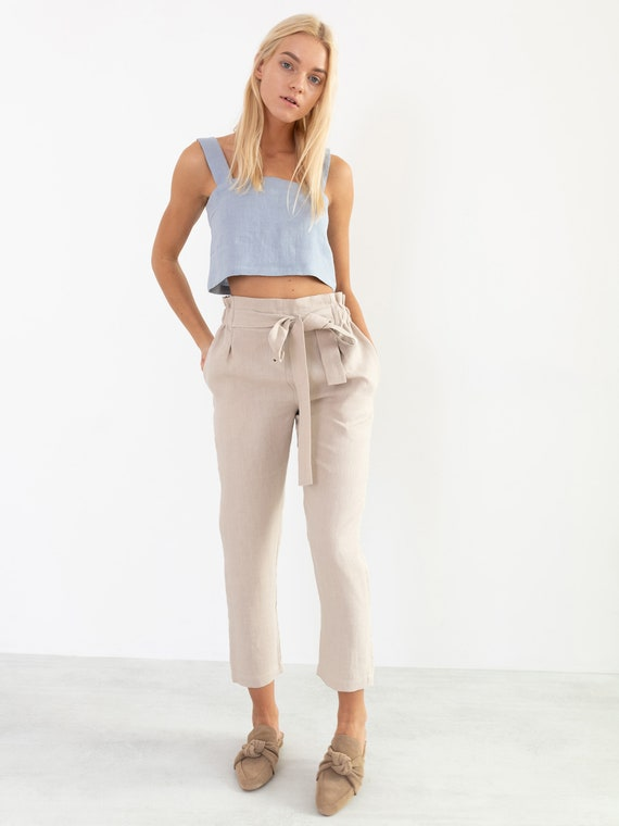 NOAH Linen Pants for Women  High Waisted Linen Trousers
