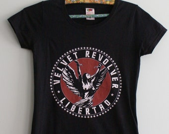 Velvet Revolver Libertad Album Cover Men/'s T Shirt Rock Band Tour Music Merch
