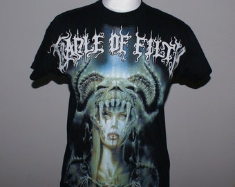 f72403f3 Cradle of Filth T-shirt, Cradle of Filth Ladies Top, Vintage Band T-shirt,  Ladies Metal shirt, Goth Clothing, Cradle of Filth Kids shirt