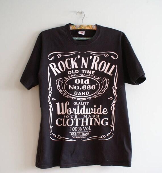 572559af10b Rock n roll t-shirt Band T-shirt Unisex Vintage
