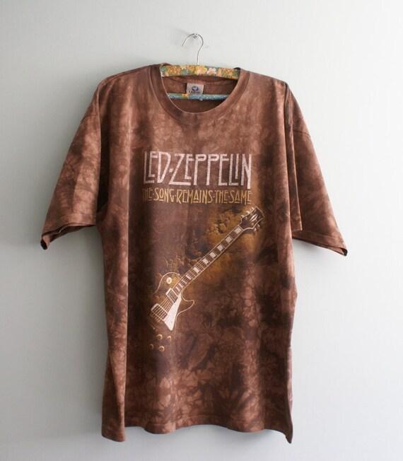 6d9724f5baa 90s Led Zeppelin T-shirt Vintage Led Zeppelin Liquid Blue