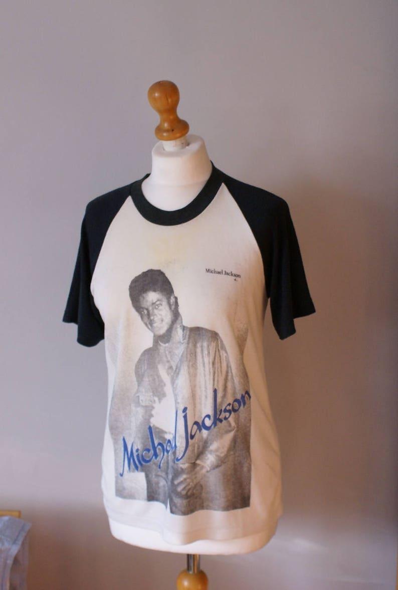 d90eeb1f 80s Michael Jackson T-shirt Michael Jackson Raglan shirt | Etsy