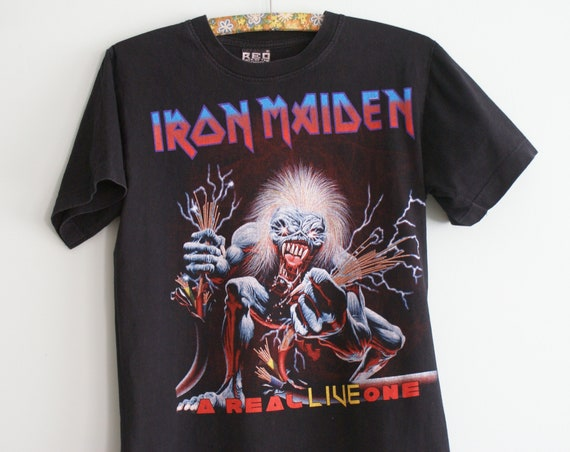 Iron Maiden t-shirt, Iron Maiden A Real Live One T