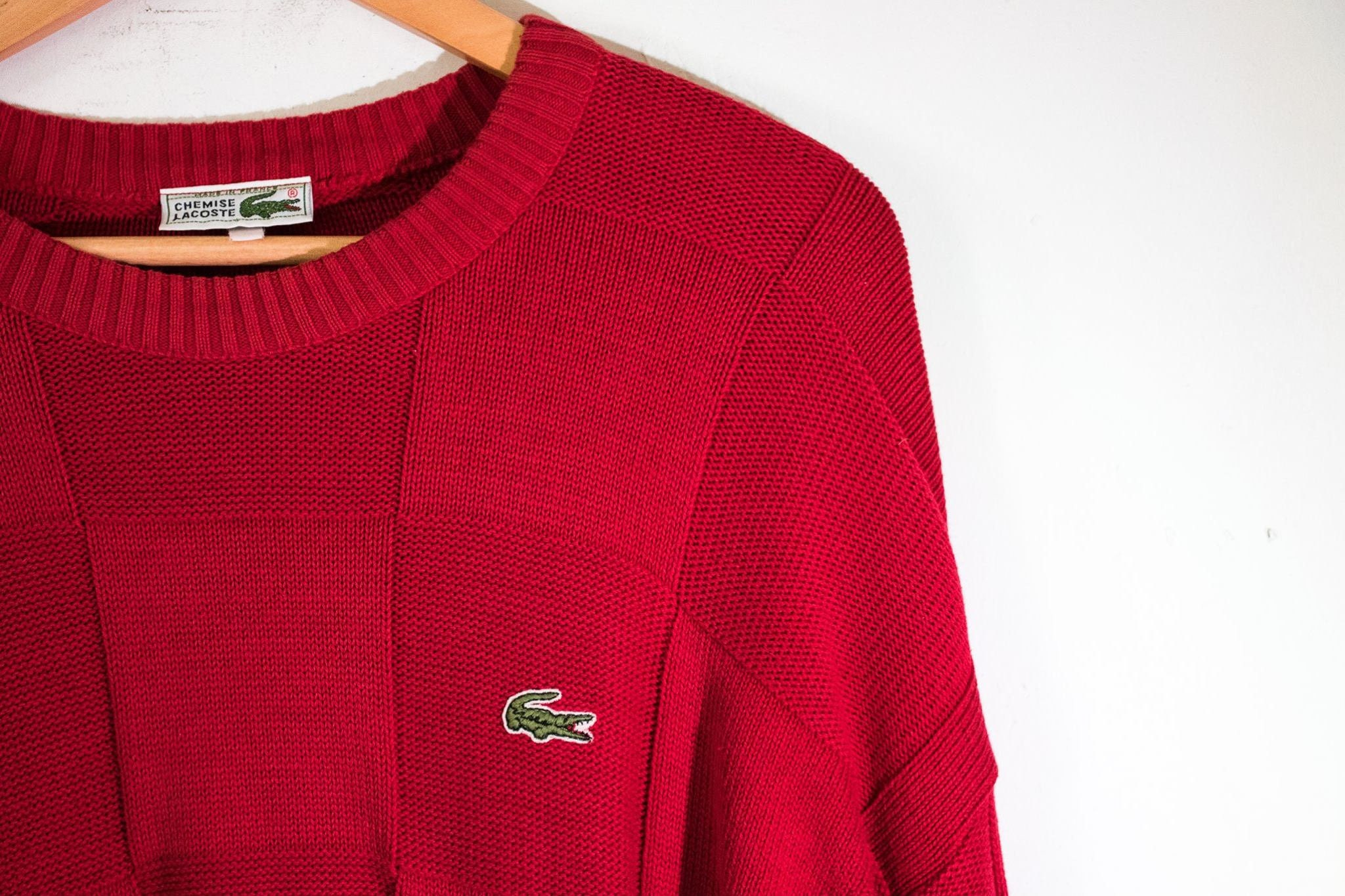 Chemise Lacoste knit MADE IN FRANCE circa 1980s 4EEgiO
