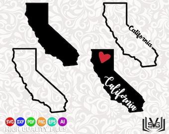 California SVG - California outline SVG - California cut files - California state design - State outline svg - United States SVG - Cut files