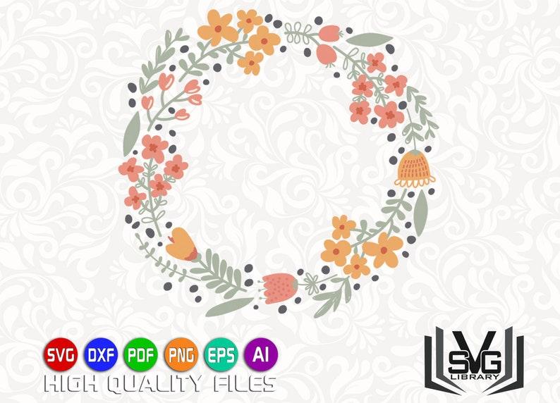 Floral wreath SVG - Laurel wreath SVG - Wreath cut file - Wedding clipart -  Wedding decoration - Floral circle SVG - Floral frame svg